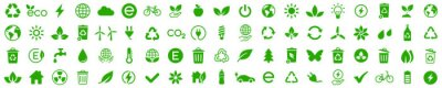 Plakat Ecology icons set. Nature icon. Eco green icons. Vector