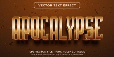 Plakat Editable text effect - apocalyptic event style