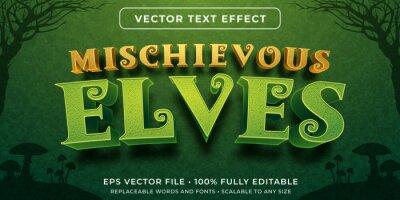 Plakat Editable text effect - forest elves style