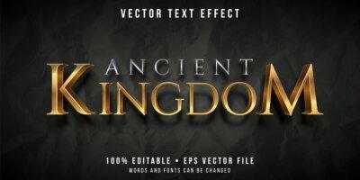 Plakat Editable text effect - golden kingdom style