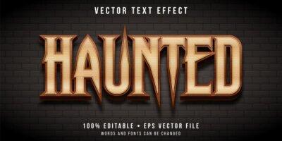 Plakat Editable text effect - haunted castle style