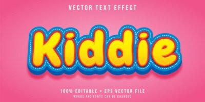 Plakat Editable text effect - kiddie style