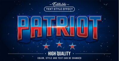 Plakat Editable text style effect - Patriot text style theme.