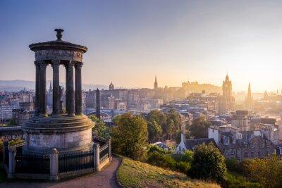 Plakat Edynburga w zimie z Calton Hill, Szkocja, Wielka Brytania