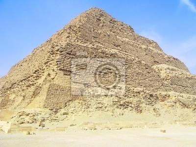 Egyptian Pyramid Krok w pobliżu Kairu, w Egipcie.