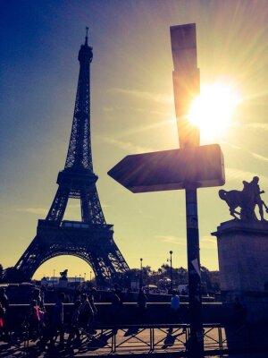 Plakat Eifel Tower w Paryżu