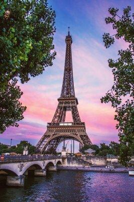 Plakat Eiffel Tower Against Sky During Sunset
