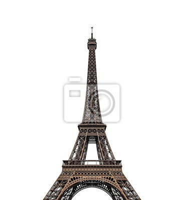 Plakat Eiffel tower isolated over the white background.