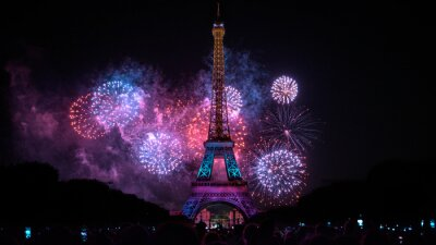 Plakat Eiffel Tower Paris Fireworks