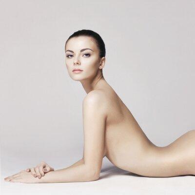 Plakat Elegancka naga dama