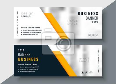 Plakat elegancki żółty profesjonalny szablon transparent firmy
