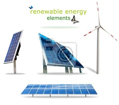 Plakat Elementy energii odnawialnej