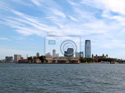 Ellis Island i Jersey City.