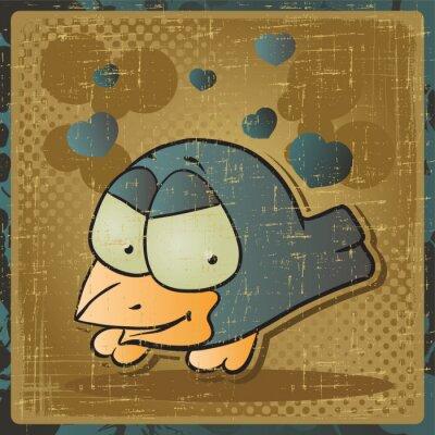 Plakat EPS 8 zabytkowe tła z ptaków wektor.