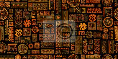 Plakat Ethnic handmade ornament, seamless pattern