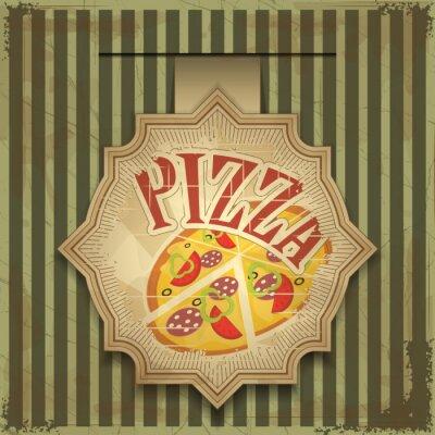 Plakat etykieta pizzy