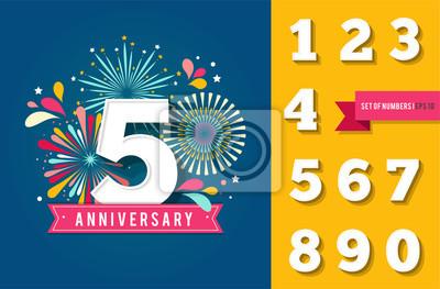 Plakat fajerwerki rocznicę i uroczystość tła, zbiór liczb