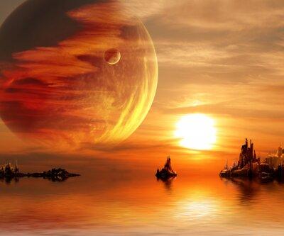 Plakat Fantasy słońca