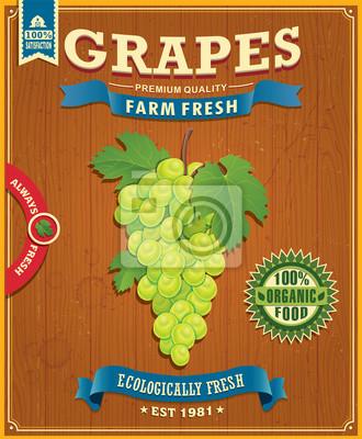 Farm świeżych winogron rocznika element projektu