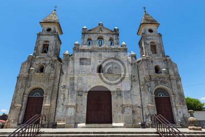 Plakat Fasada kościoła Guadalupe (Iglesia de Guadalupe) w Granadzie, Nikaragui, Ameryka Środkowa
