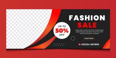 Plakat Fashion sale business social media business cover design template | discount fashion sale cover design.