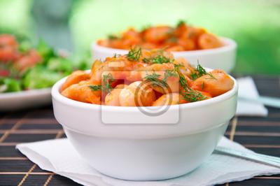 fasoli z sosem pomidorowym