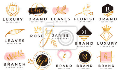 Plakat Feminine logo collections template premium vector