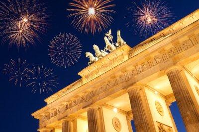 Plakat feuerwerk w Berlinie