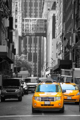 Plakat Fift aleja neigbourhood 5 żółta taksówka taksówki th Av