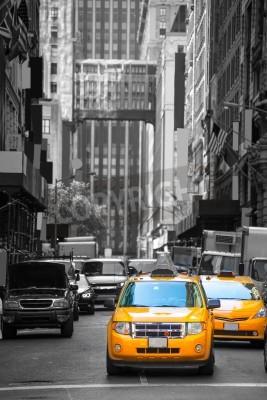 Plakat Fift aleja neigbourhood 5 żółta taksówka taksówki th Av New York Manhattan USA