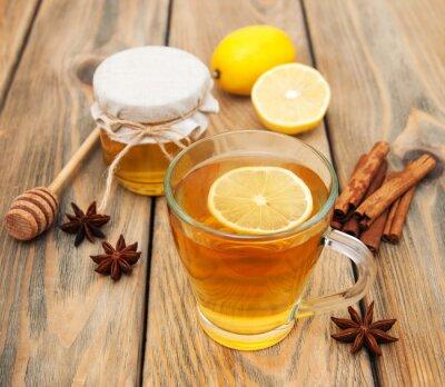 Plakat Filiżanka herbaty z miodem