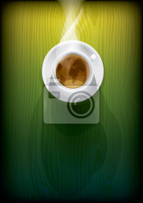 Plakat filiżanka kawy
