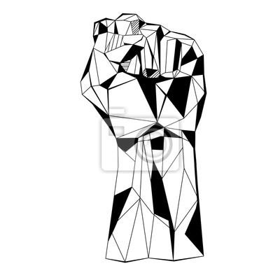 Fist stylizowany model wieloboczny trójkąt