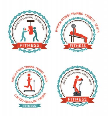 Plakat Fitness and Workout design