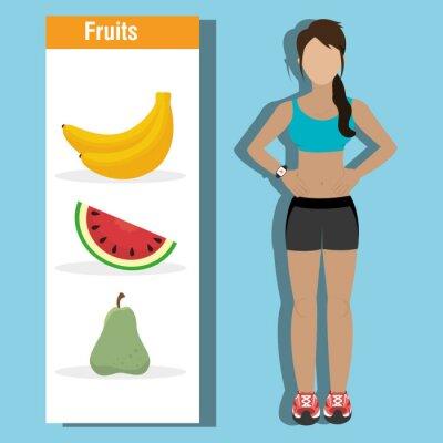 Plakat Fitness i zdrowa żywność