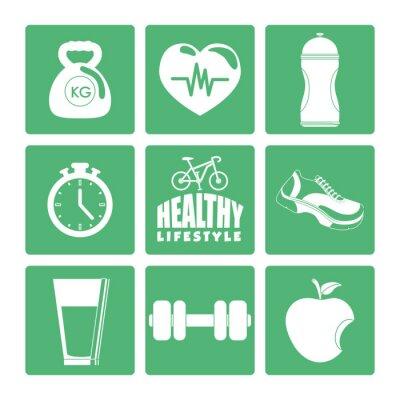 Plakat Fitness i zdrowy styl życia