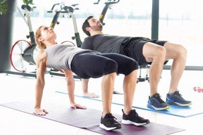 Plakat Fitness na siłowni