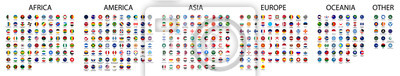 Plakat Flag of world. Vector icons
