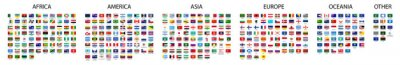 Plakat Flag of world. Vector icons. Set flags.