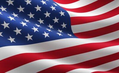 Plakat Flaga Stanów Zjednoczonych Ameryki