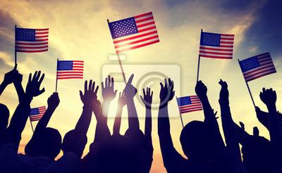 Plakat Flaga USA 4 lipca? Wi Indendence Dzień Concept