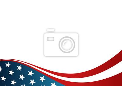 Plakat Flaga USA kartkę