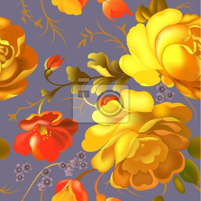 Plakat Floral szwu.