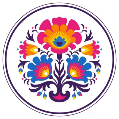 Plakat Folk papercuts - Flowers