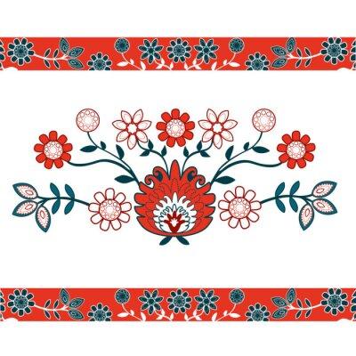 Plakat Folkowe kwiaty