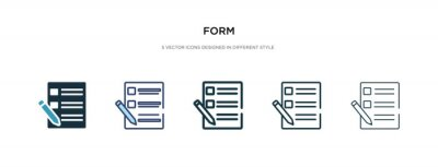 Plakat form icon in different style vector illustration. two colored and black form vector icons designed in filled, outline, line and stroke style can be used for web, mobile, ui