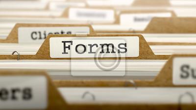 Plakat Formy Praca z programem Word w folderze.