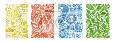Plakat Four elements concept. Banners design