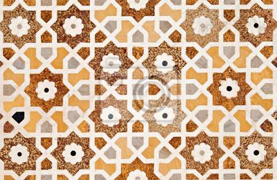 Plakat Fragment dekoracji Taj Mahal