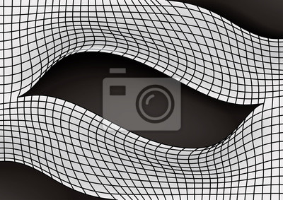 Frame for image or text with effect curved mesh.